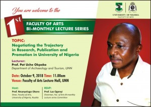 Maiden Faculty Bi-monthly Lecture by Pat Okpoko